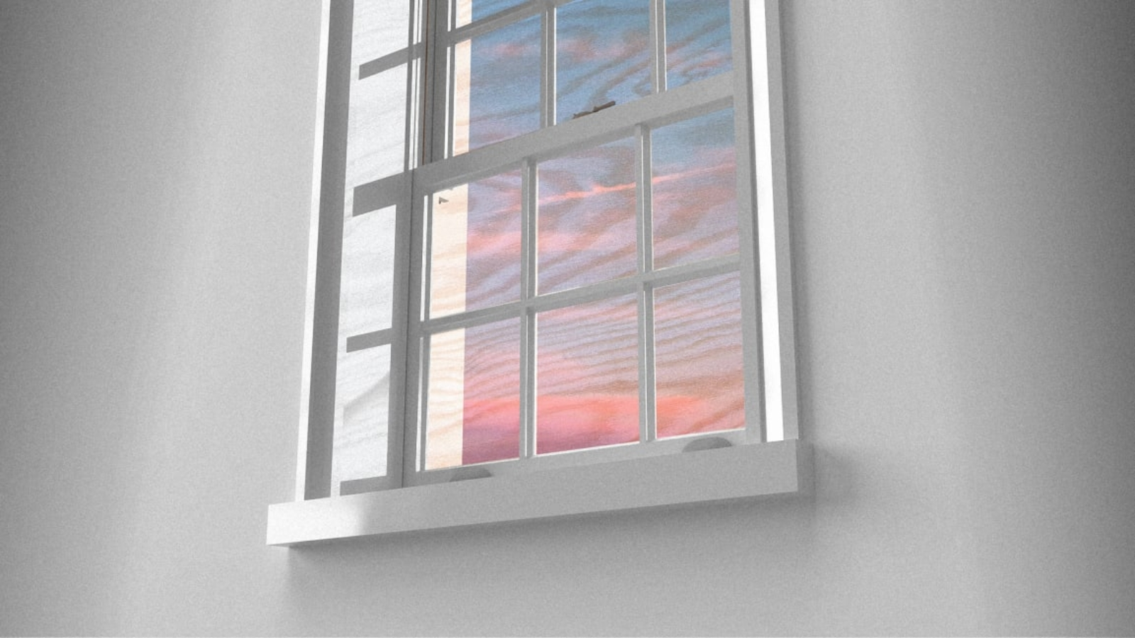 Window with Transparent Wood