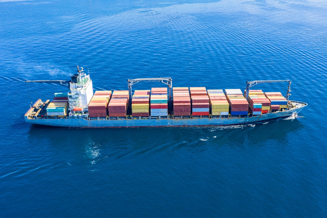 Cargo ship full loaded with containers